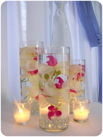DIY Craft Centerpiece Ideas: Grid Mirror Glass Candleholders